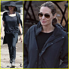 Angelina Jolie: 'Unbroken' Work Day in Sydney!